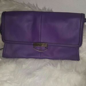 ⭕B. Makowsky Purple Leather purse